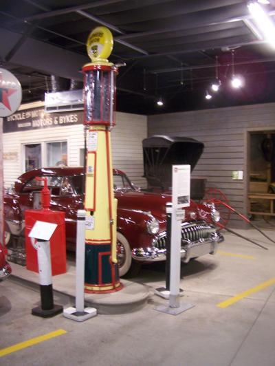 Bruce Gardow fuel dispenser in museum
