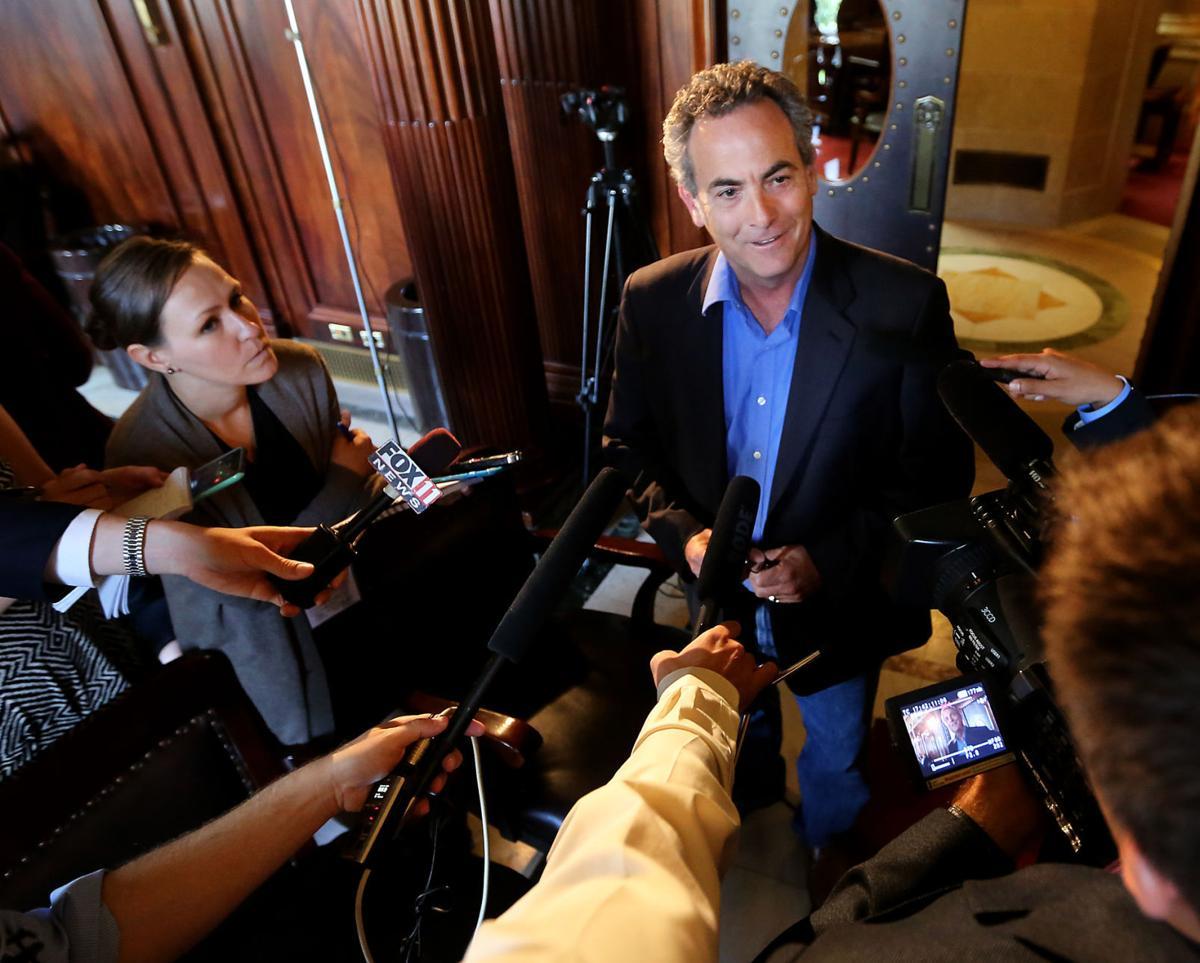 Jon Erpenbach, state budget presser 7-1-15, State Journal photo