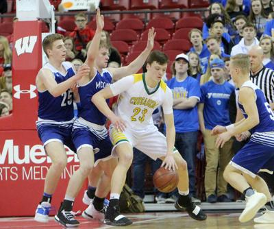 McDonell boys basketball vs Sheboygan Area Lutheran 3-15-19