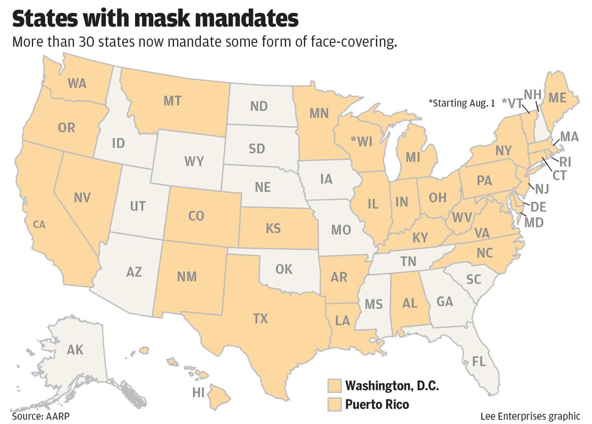 States with mask mandates