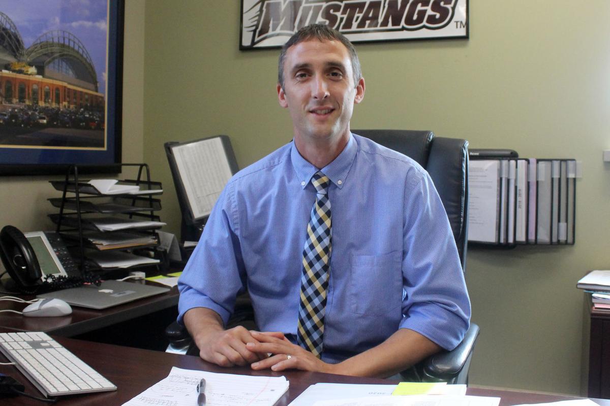 Menomonie High School principal Casey Drake