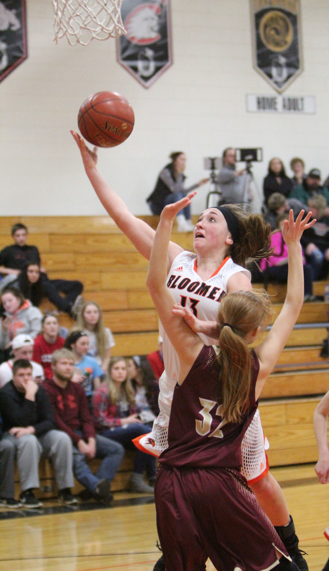 Barron at Bloomer girls basketball 2-8-18
