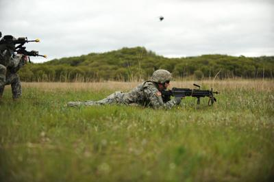 Soldier from 1st Battalion 128th Infantry