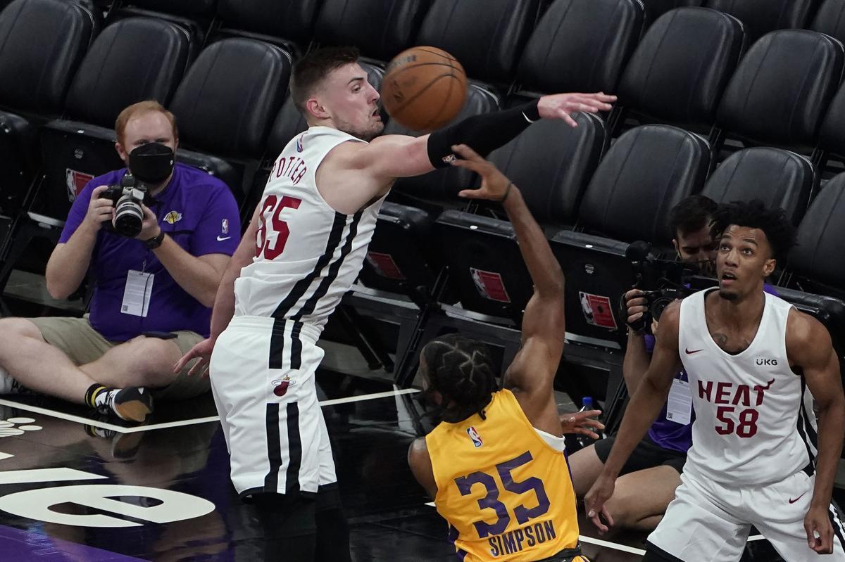 Lakers Heat Basketball