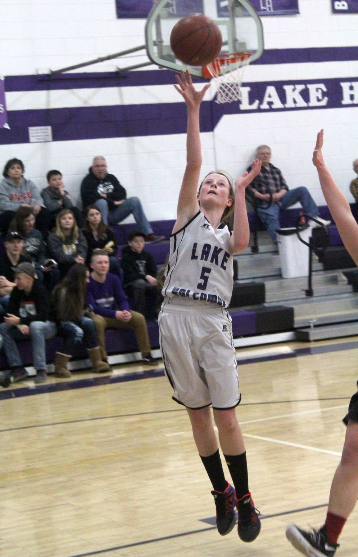 Bruce at Lake Holcombe girls basketball 1-9-18