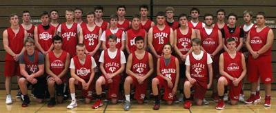 Colfax boys basketball 2018-19 team photo
