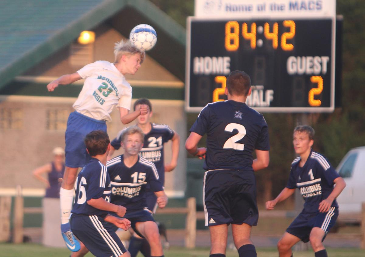 Columbus Catholic at McDonell/Regis boys soccer 9-12-17