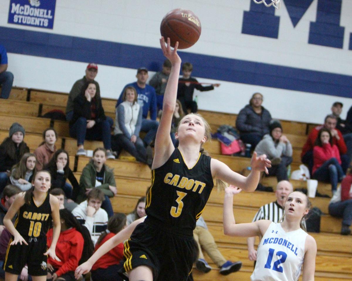 Cadott at McDonell girls basketball 2-14-20