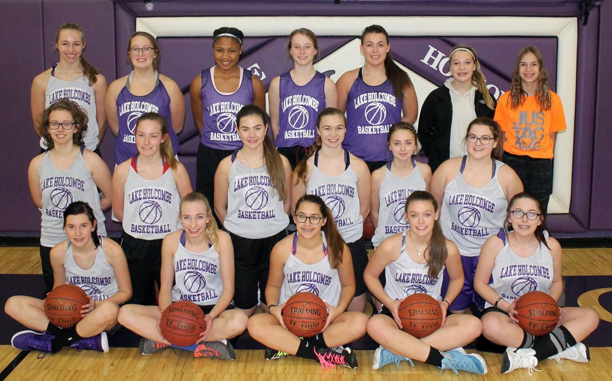 Lake Holcombe girls basketball 2018-19 team photo