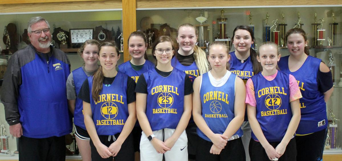 Cornell girls basketball 2018-19 team photo