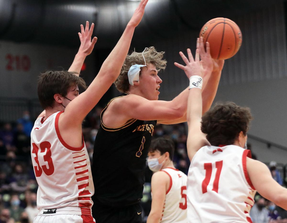 WIAA state boys basketball photo: DeForest's Nolan Hawk