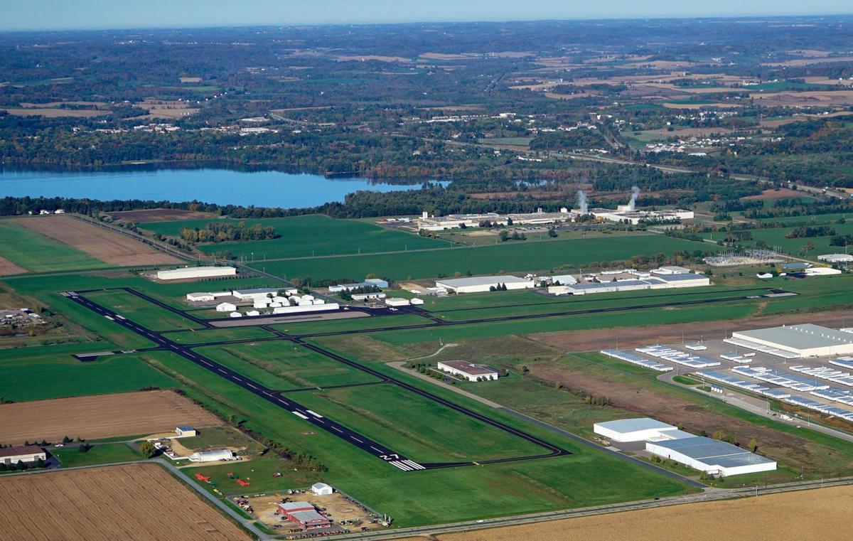Aerial view of Menomonie Airport