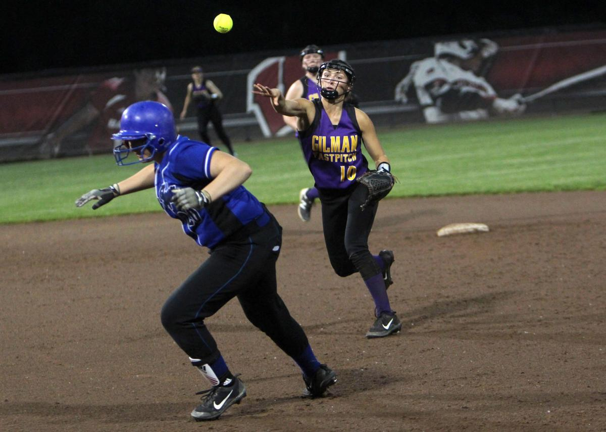 Gilman vs Blair-Taylor softball at Division 5 state semifinals 6-6-19