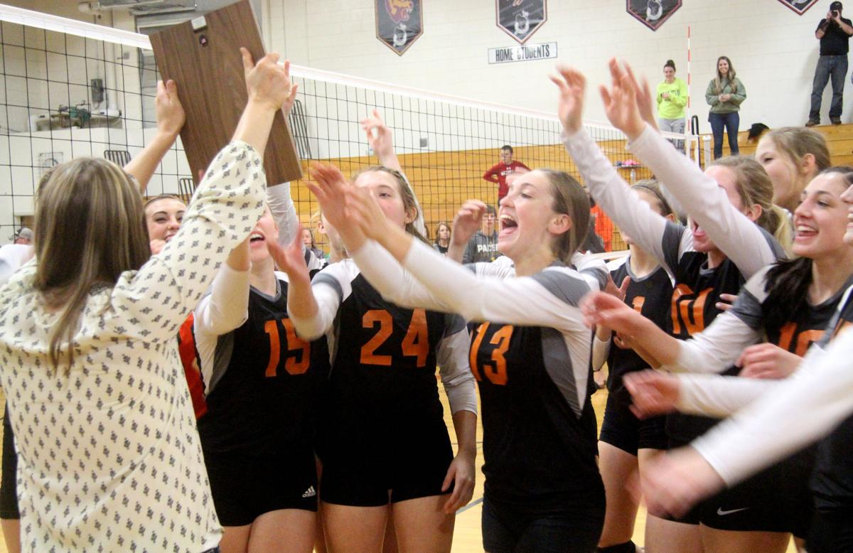 Bloomer volleyball at Heart O' North Conference quad