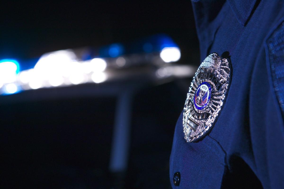 FILE -- police badge