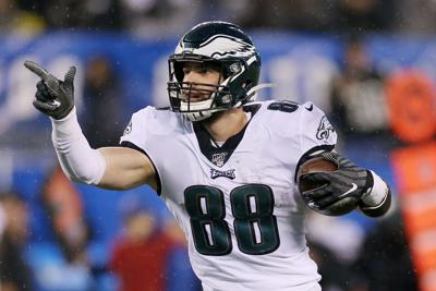 Eagles tight end Dallas Goedert apparently was not seriously injured in the attack.