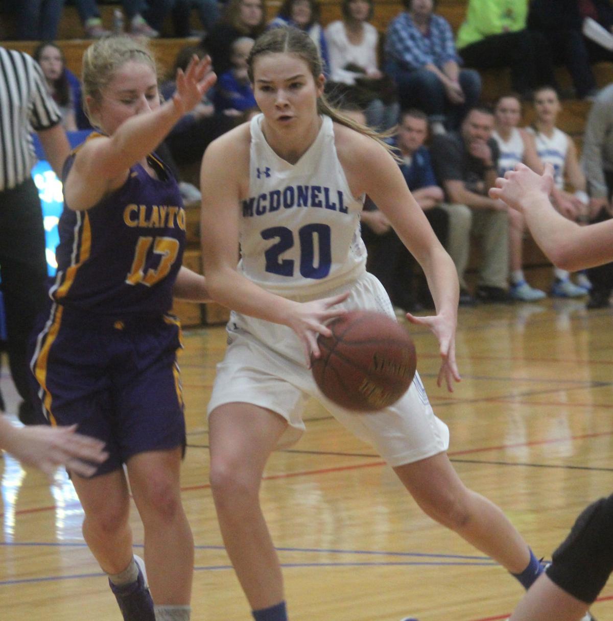 Clayton at McDonell girls basketball 12-2-17