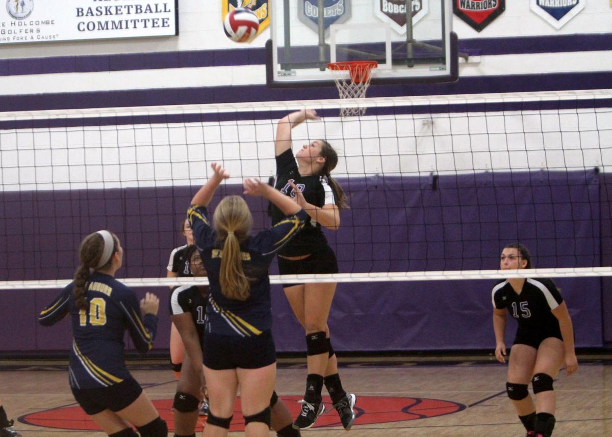 New Auburn at Lake Holcombe volleyball 10-10-17