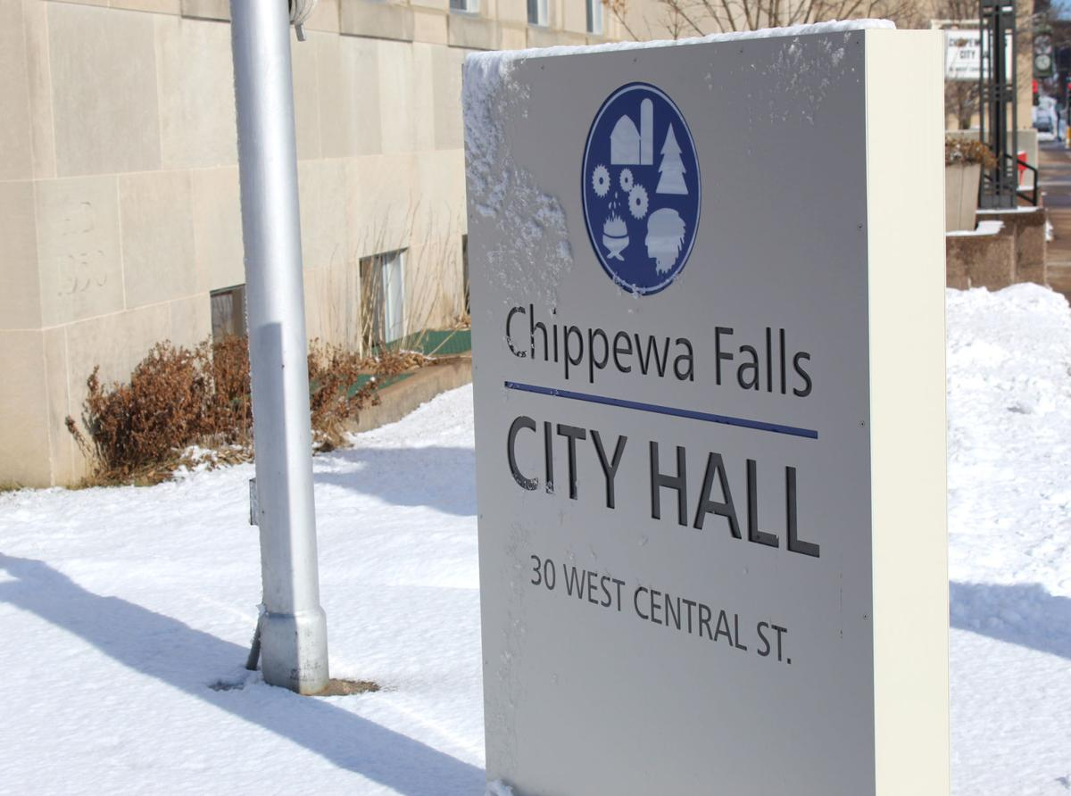 Chippewa Falls city hall sign