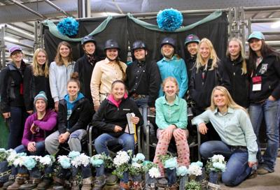Menomonie equestrian team photo