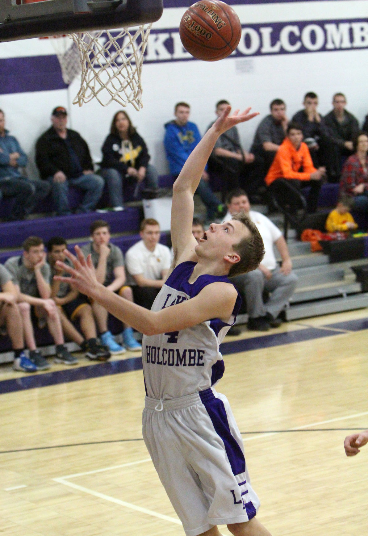 New Auburn at Lake Holcombe boys basketball 2-13-18