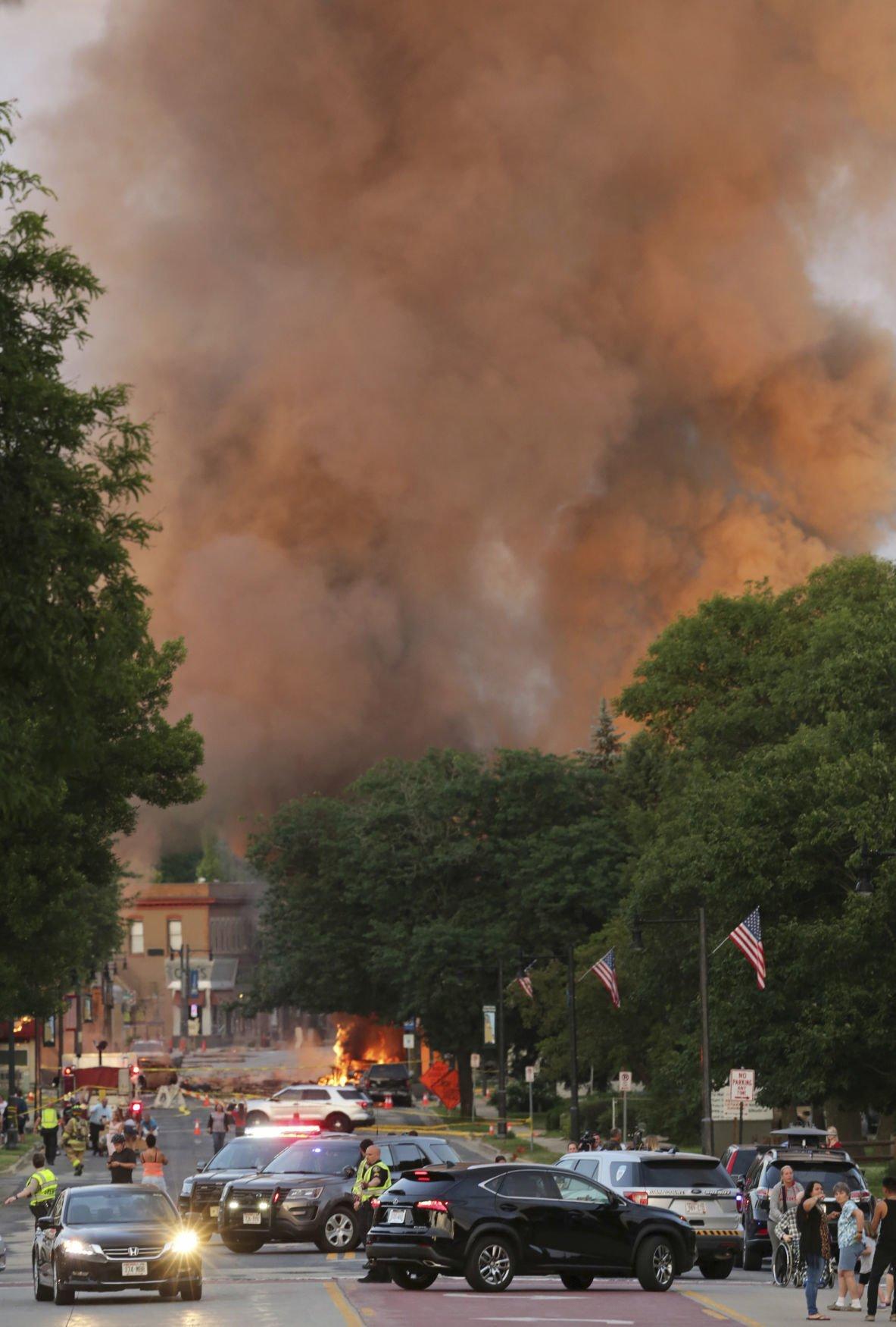 APTOPIX Wisconsin Explosion