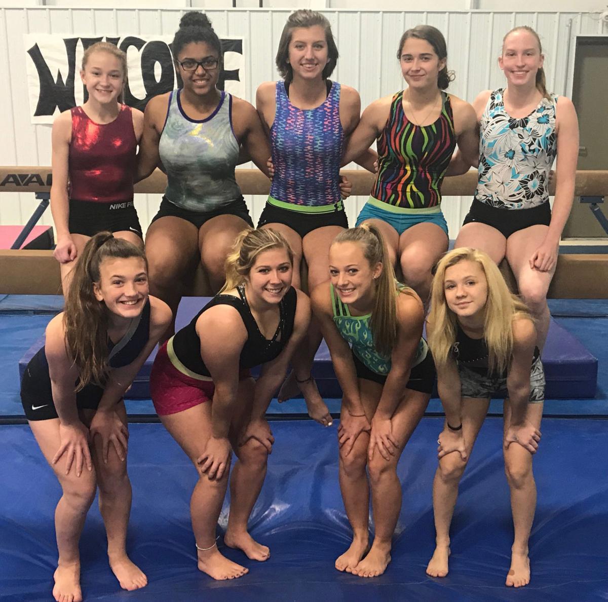 2017-18 Menomonie gymnastics team