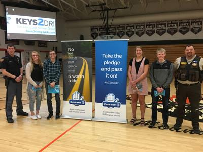 Elk Mound students distracted driving