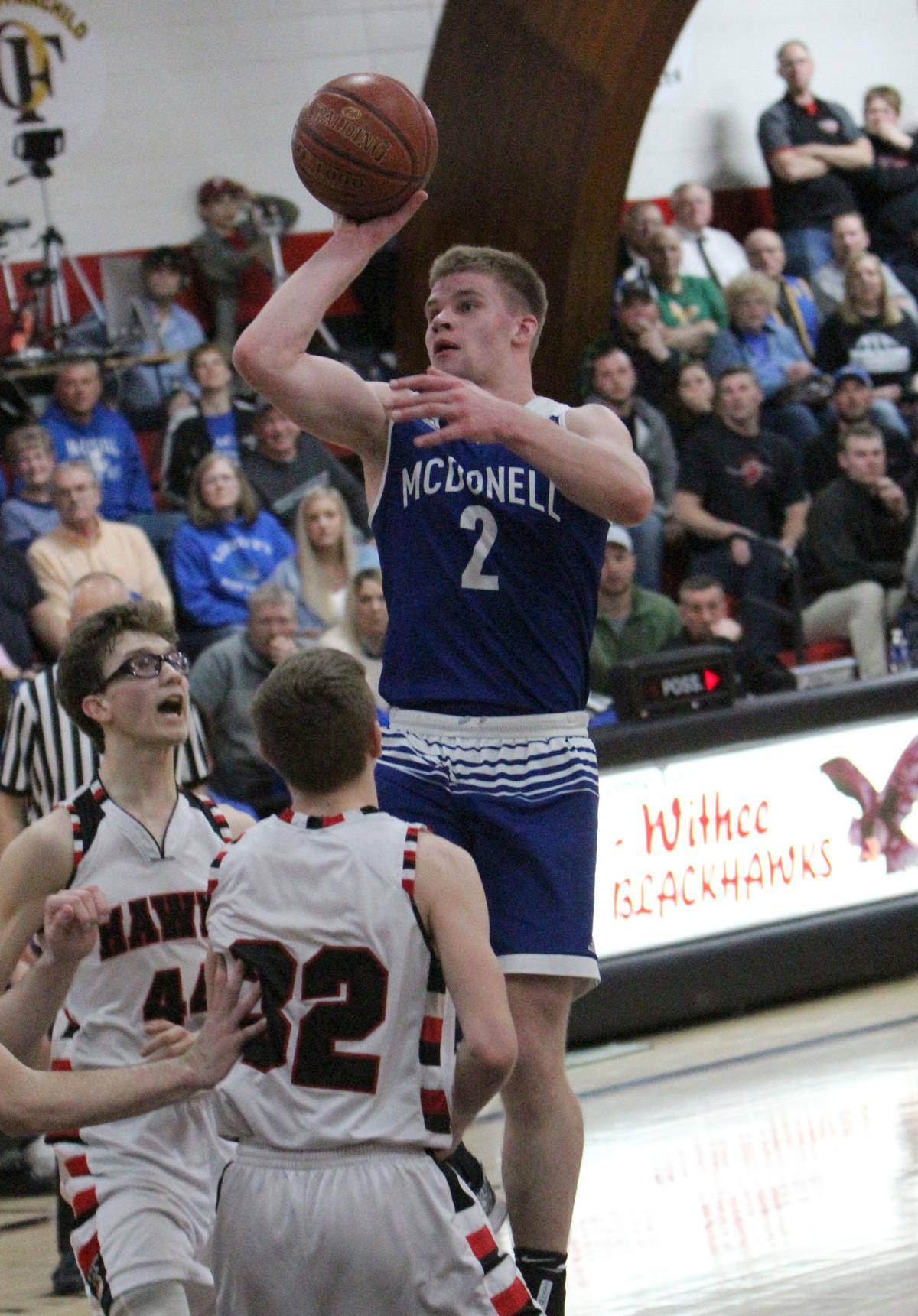 McDonell boys basketball at Owen-Withee 3-3-18