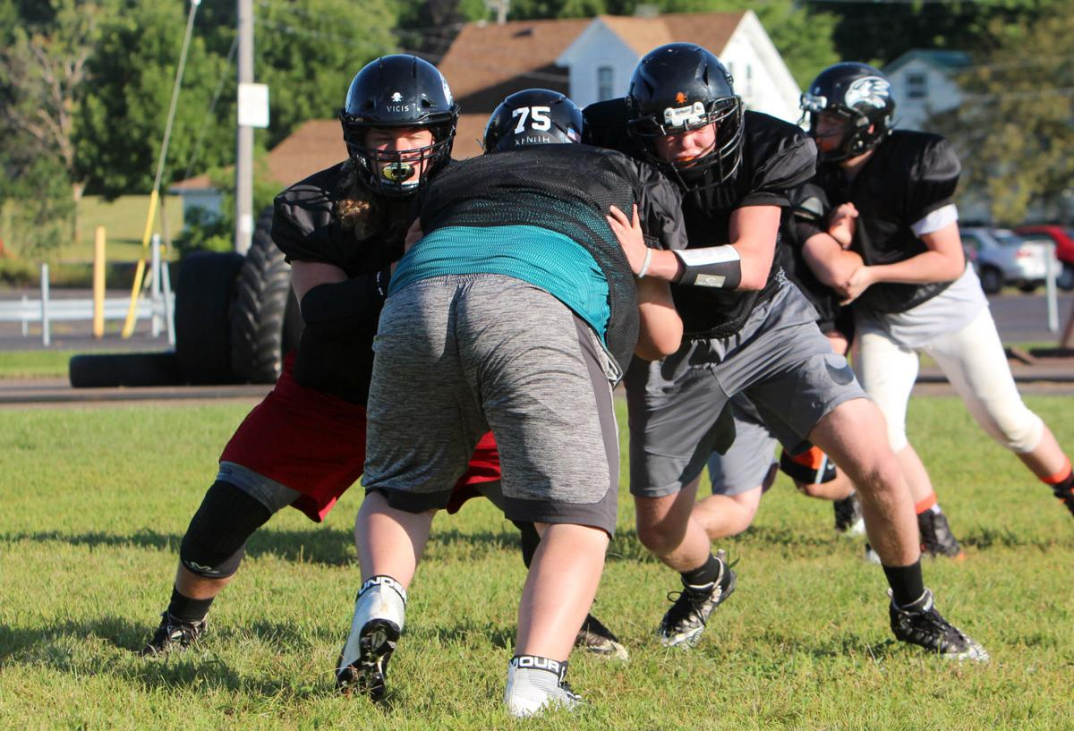 Bloomer football practice 8-8-19