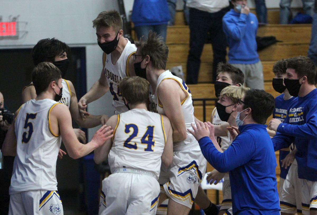 Turtle Lake at McDonell boys basketball 2-27-21