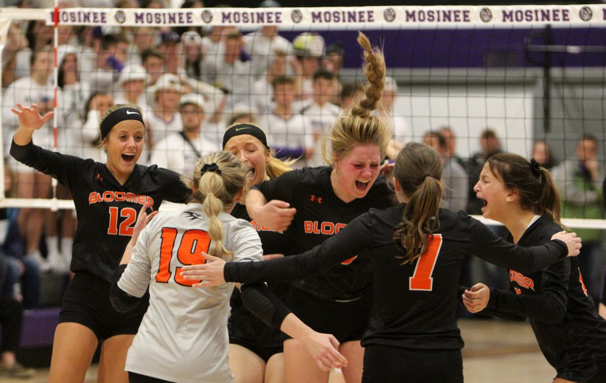 Bloomer volleyball at Mosinee 11-2-19