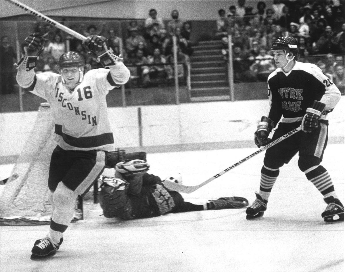 UW hockey vs. Notre Dame March 1979