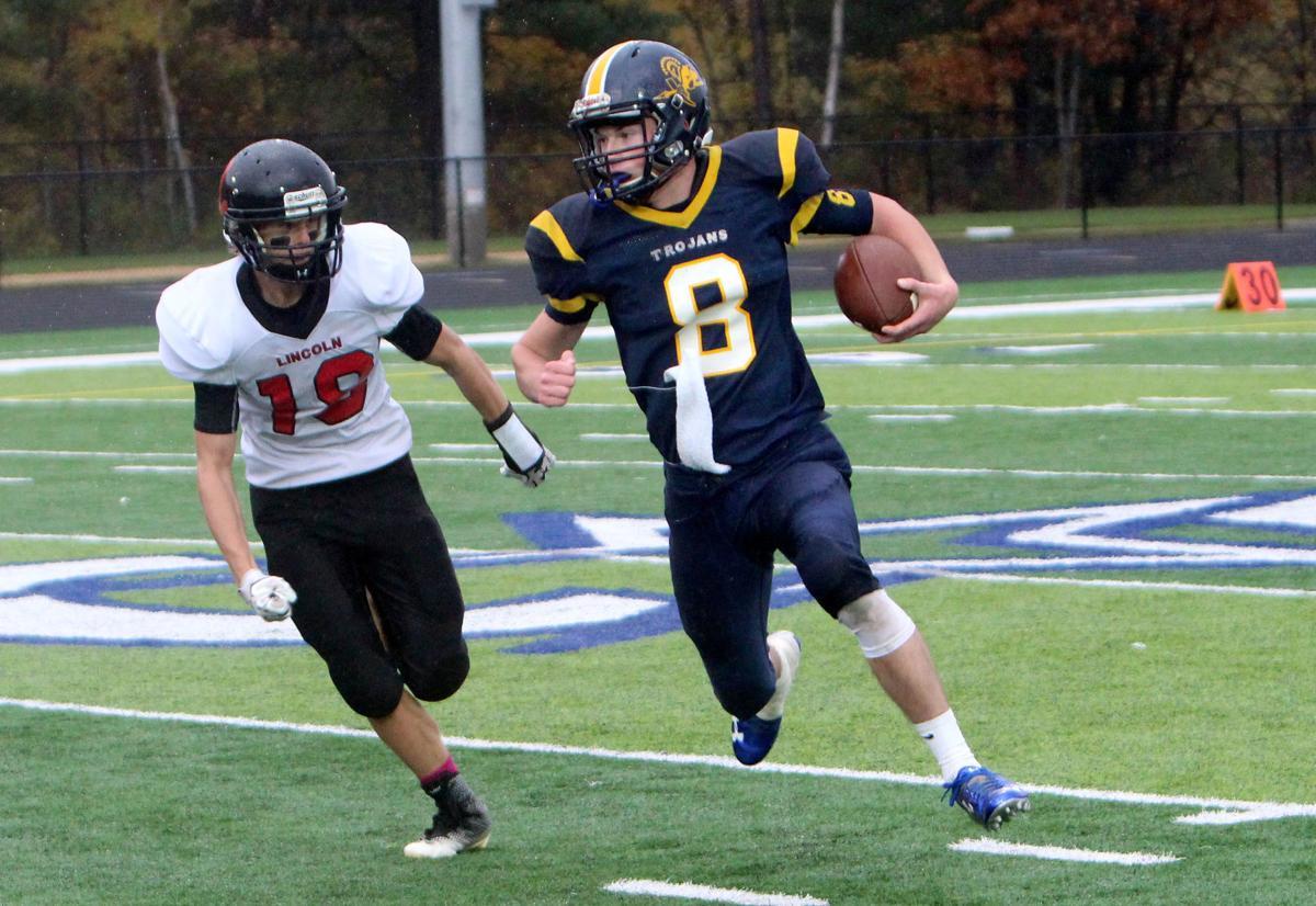 New Auburn football vs Alma Center Lincoln at Cameron 10-14-17