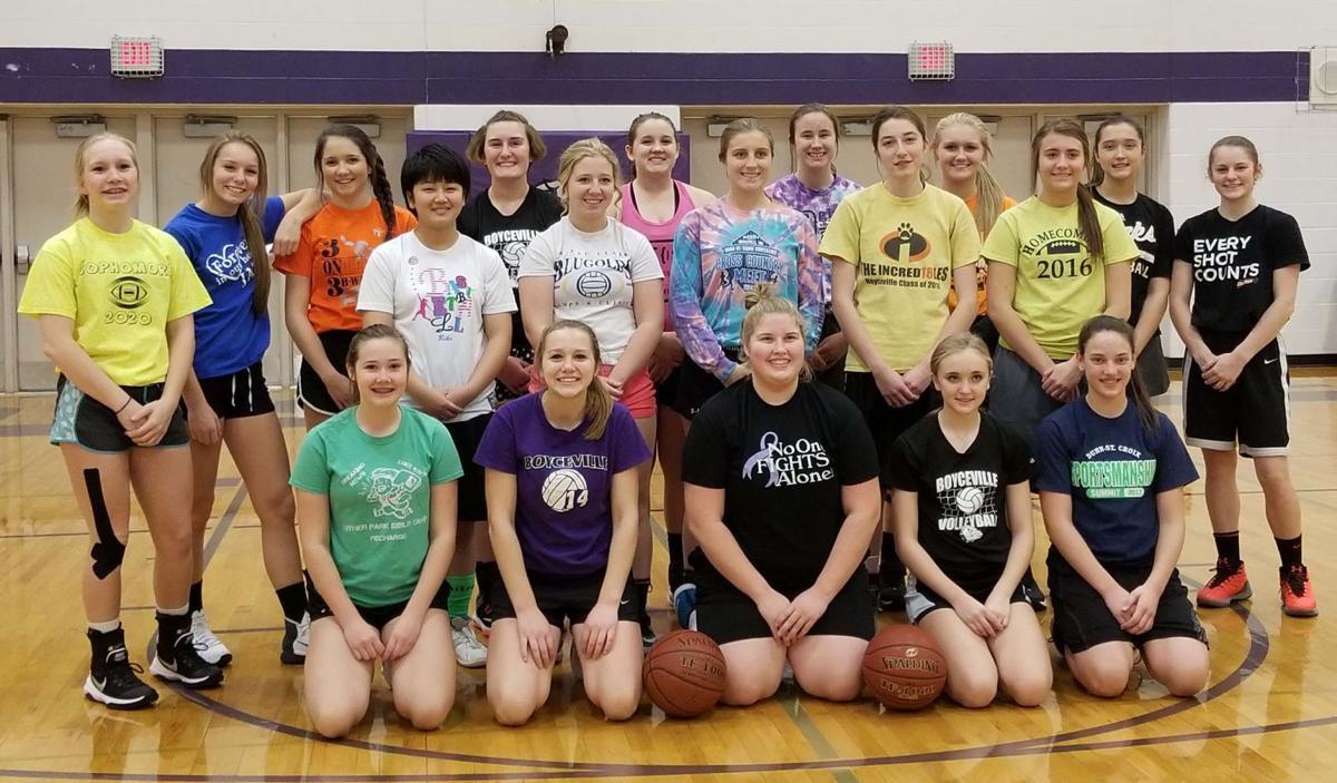 The 2017-18 Boyceville girls' basketball team