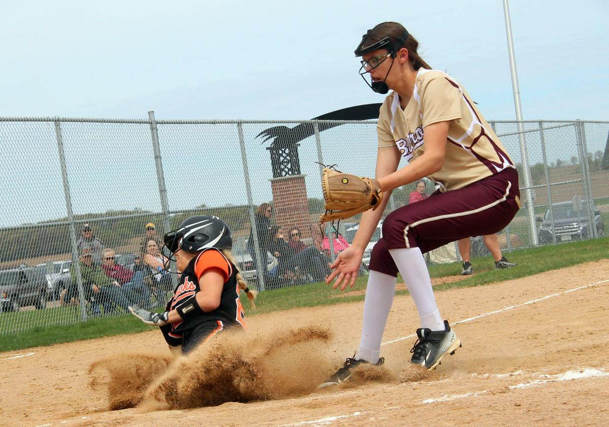 Barron at Bloomer softball 5-12-18