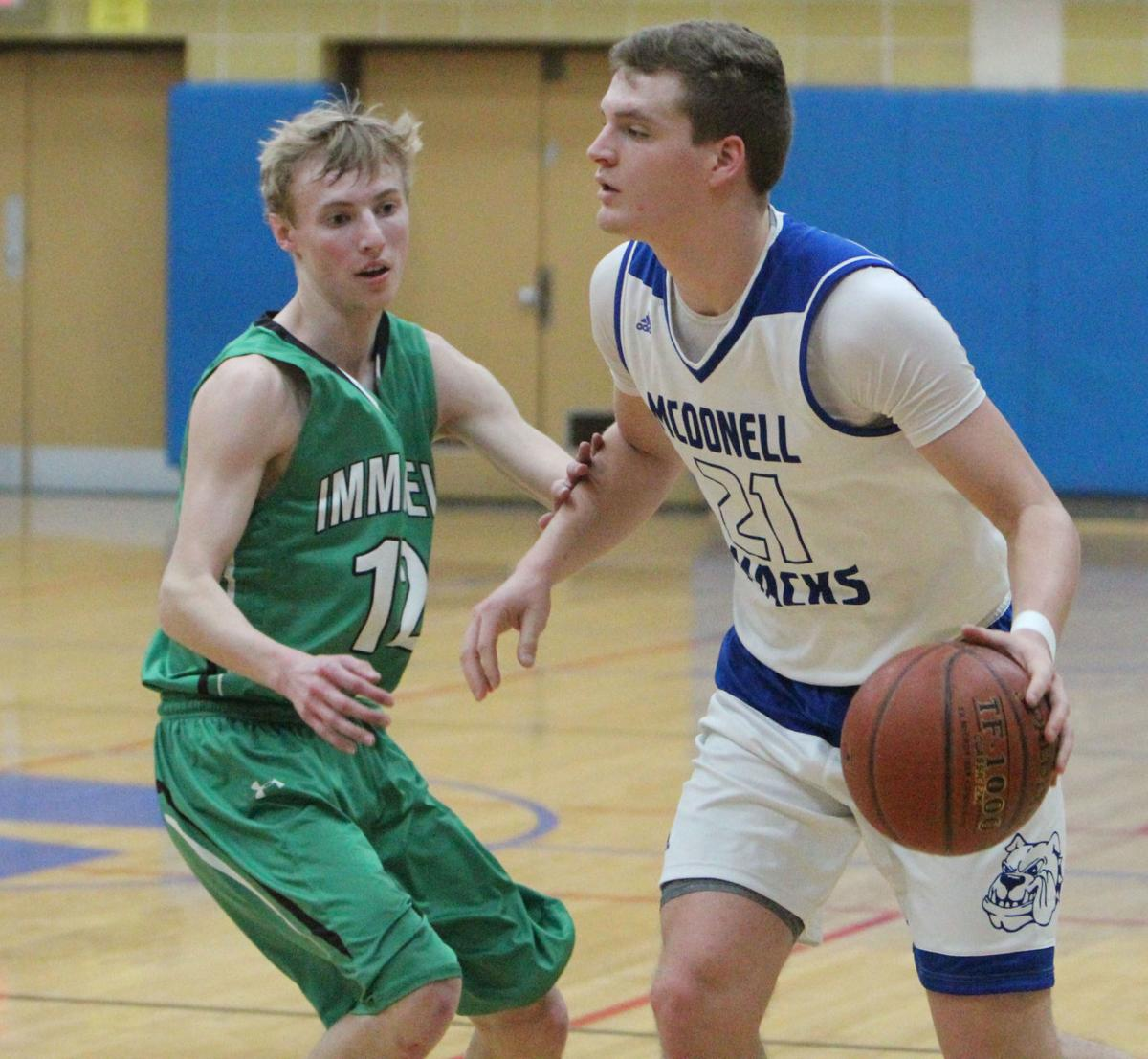 Eau Claire Immanuel at McDonell boys basketball 3-2-18