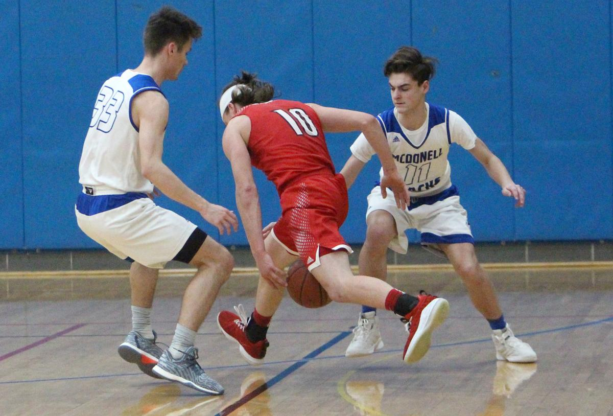 Prentice at McDonell boys basketball 3-2-19