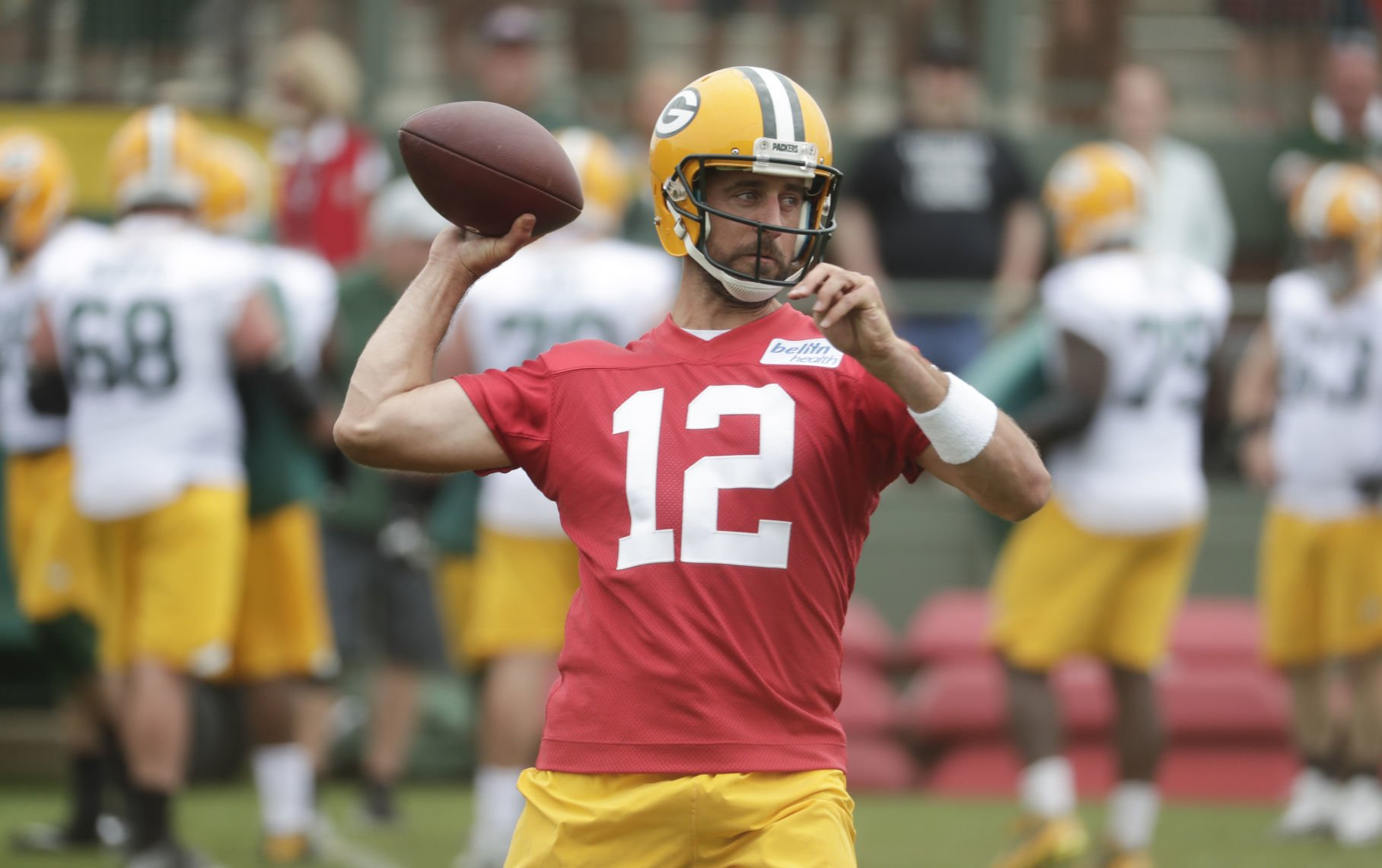 aaron rodgers red jersey