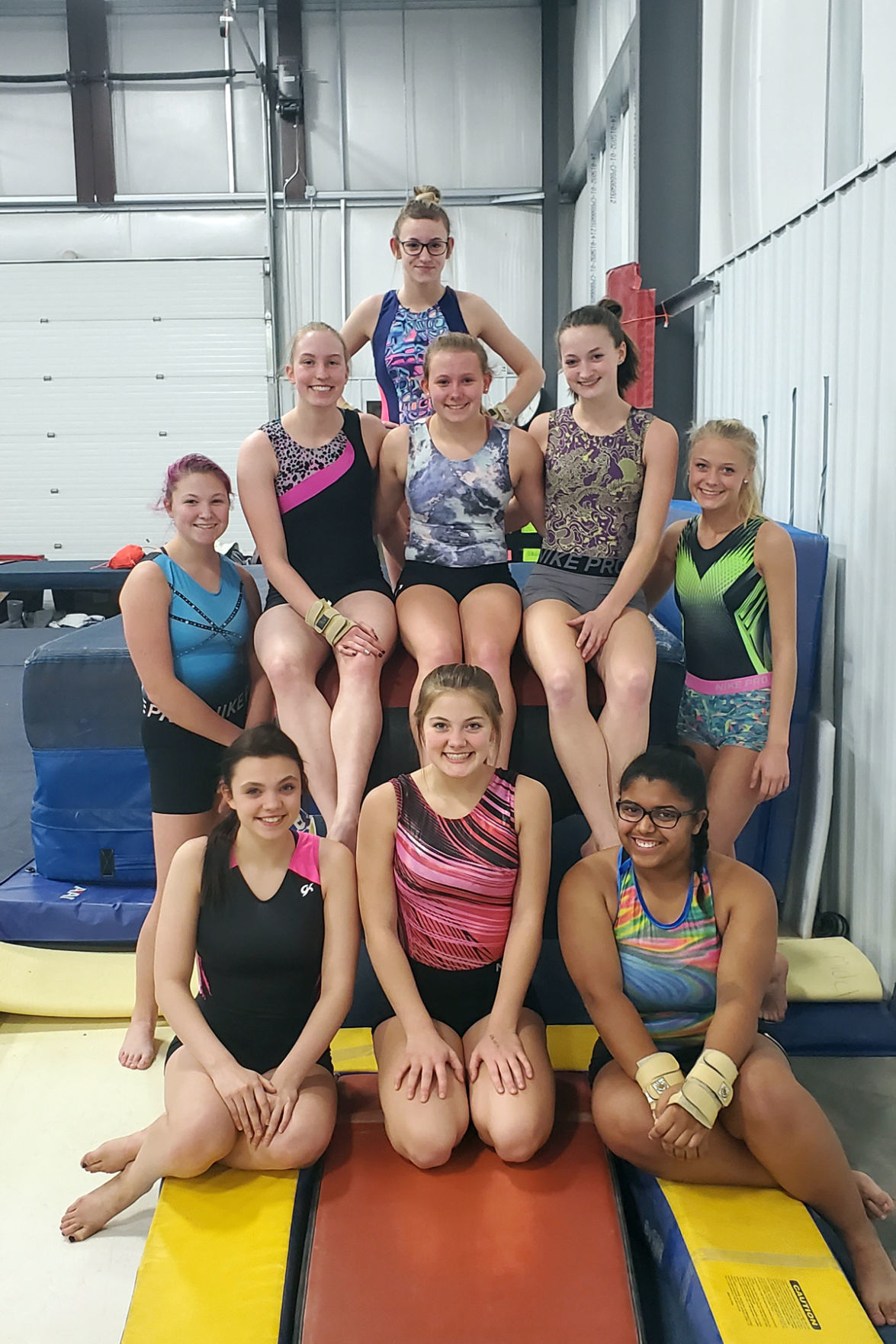 Menomonie gymnastics 2019-20 team photo