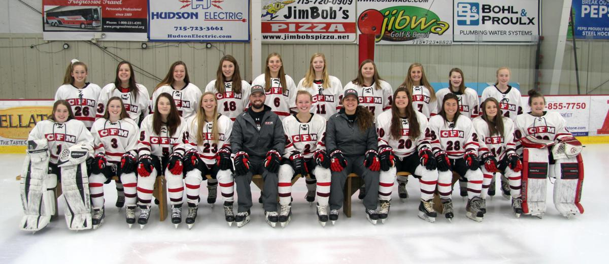 2018-19 Chi-Hi/Menomonie girls hockey team photo