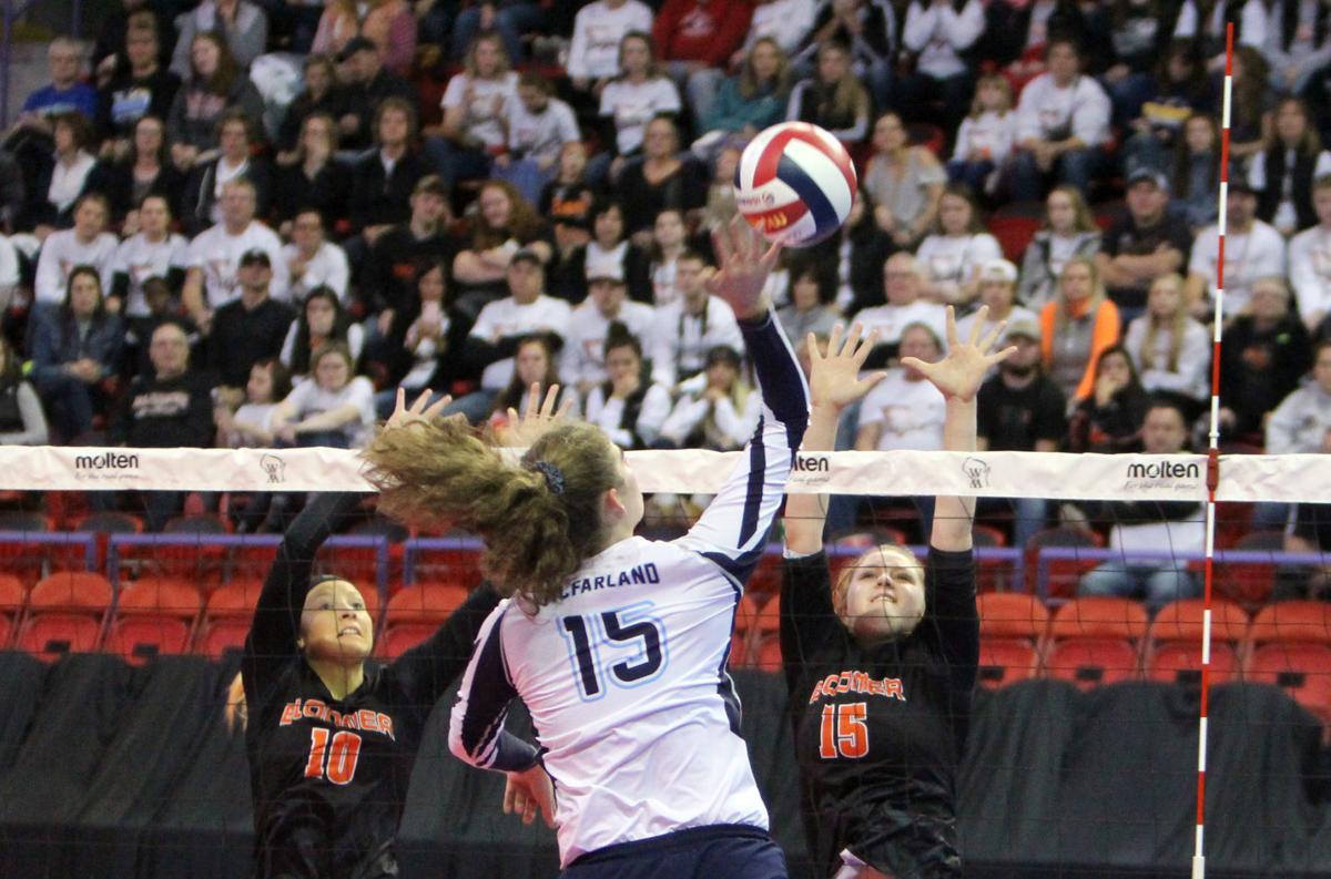 Bloomer volleyball vs McFarland 11-8-19