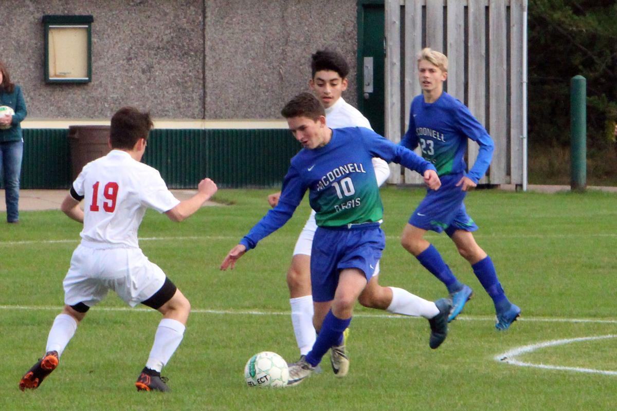 Arcadia at McDonell/Regis boys soccer 10-04-18