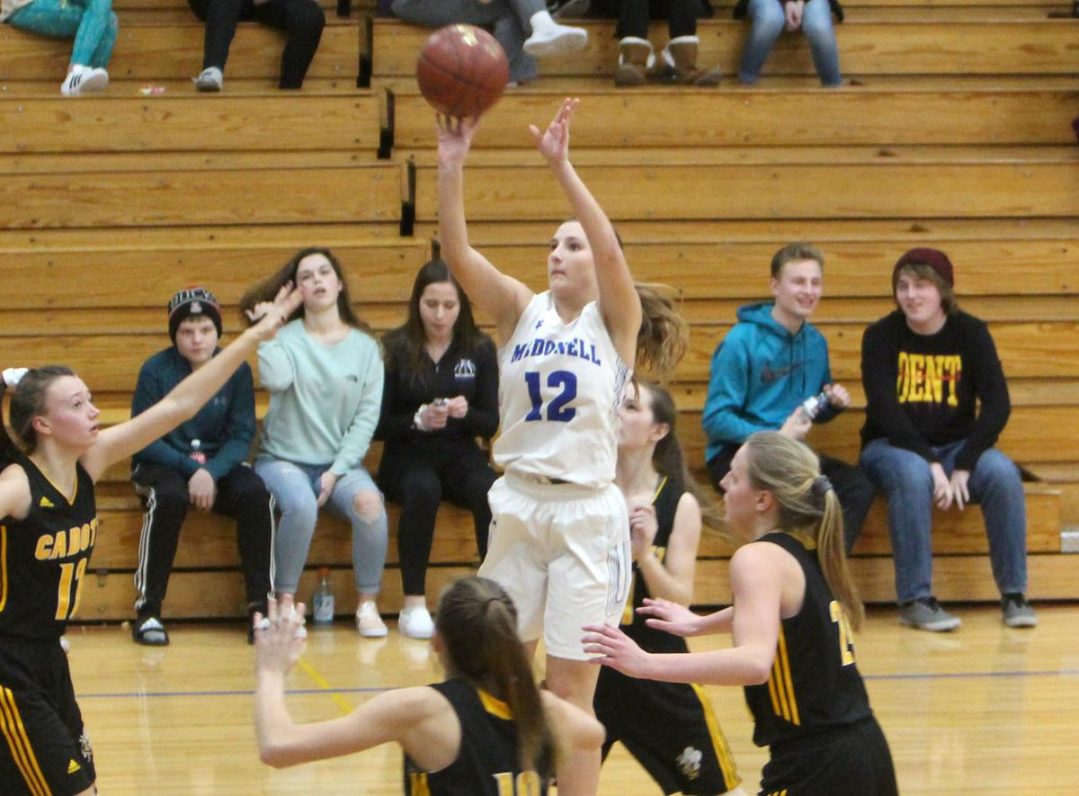 Cadott at McDonell girls basketball 1-3-19
