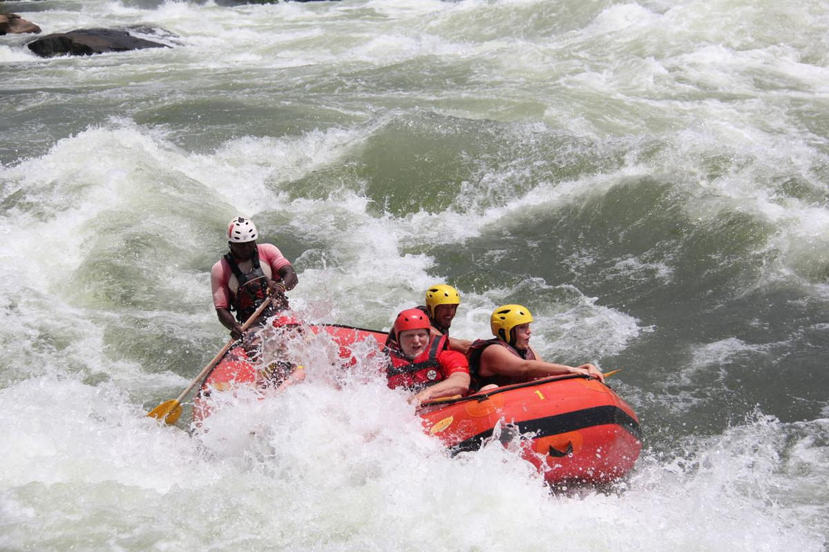 Whitewater rafting on the Nile