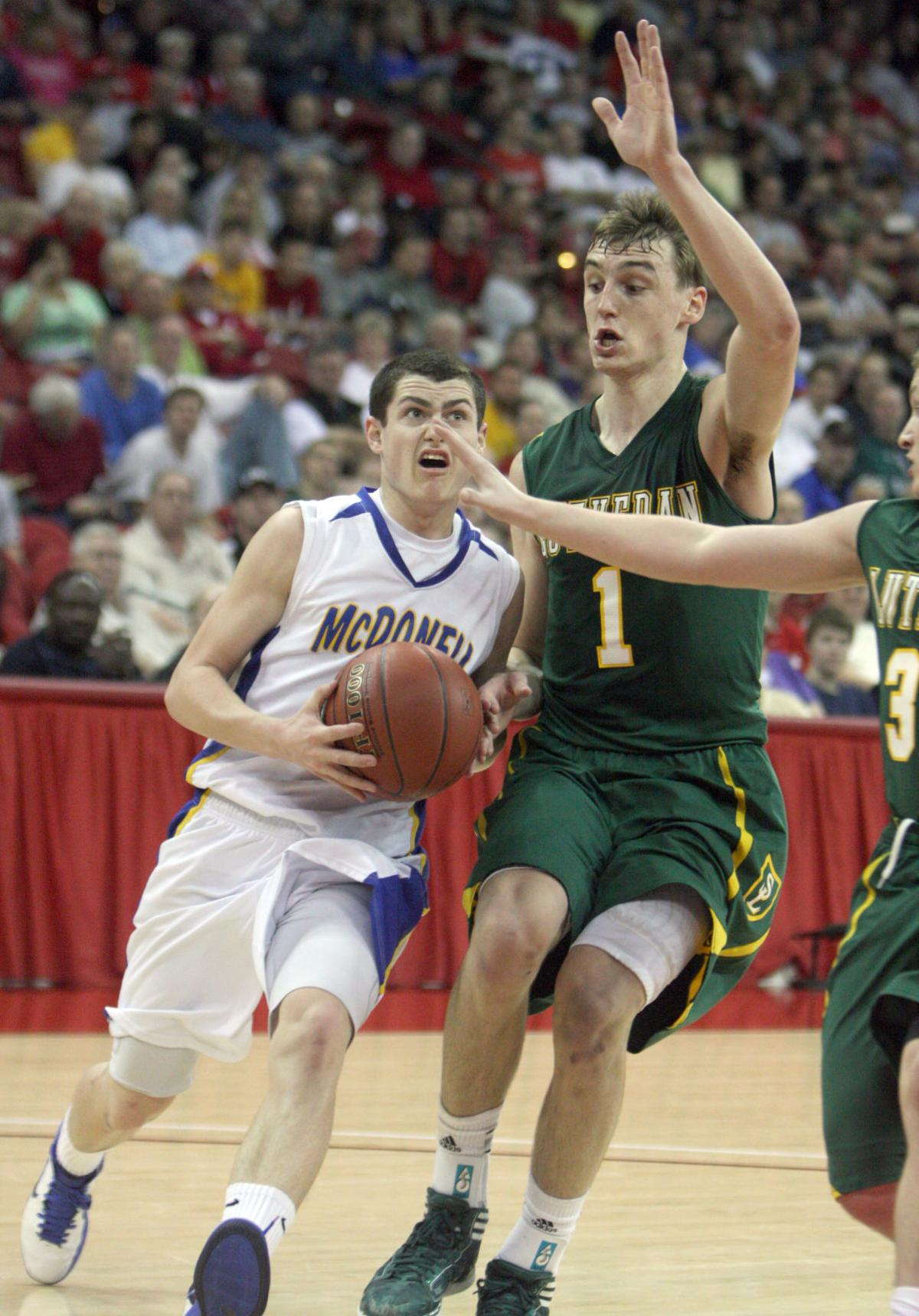 WIAA Division 5 Boys Basketball State Semifinal Sheboygan Area Lutheran v. McDonell 3-15-12