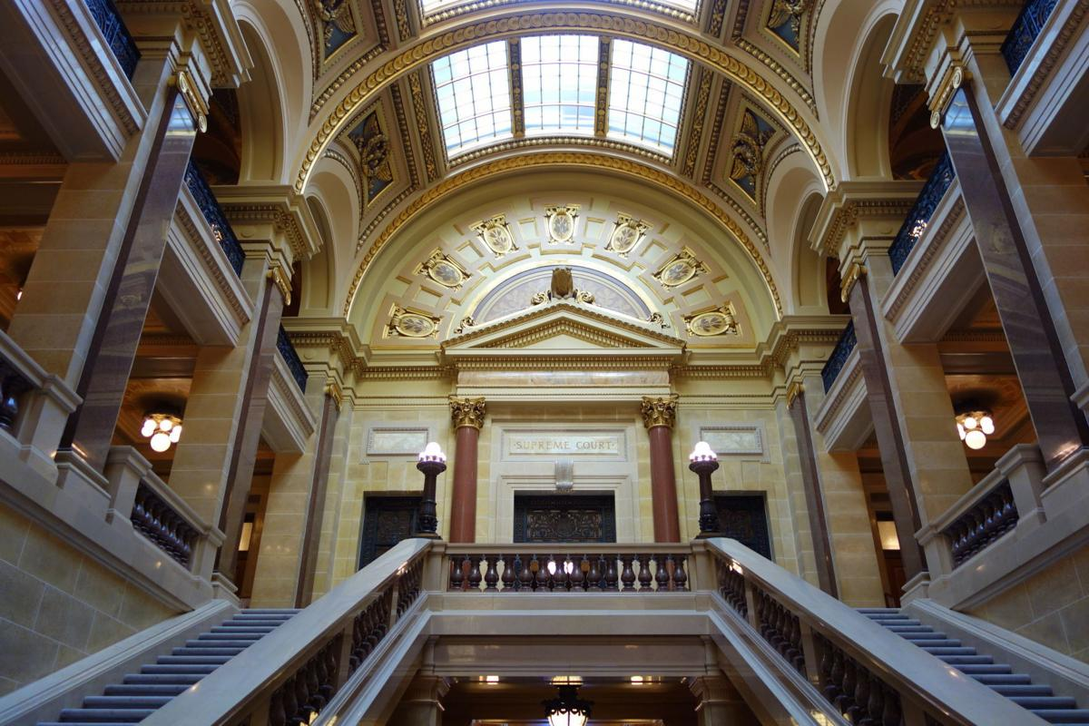Wisconsin Supreme Court entrance in Capitol Building