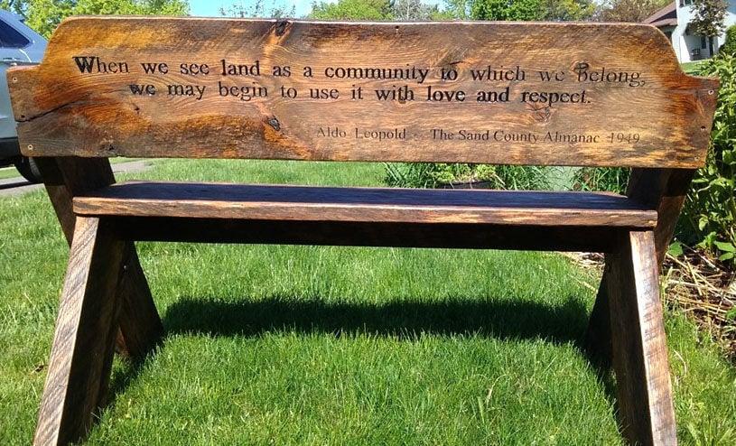 Admirable Garden Tour Includes Aldo Leopold Garden Bench Raffle Pabps2019 Chair Design Images Pabps2019Com