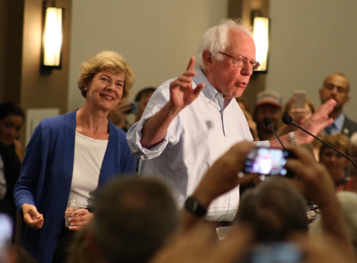 Tammy Baldwin and Bernie Sanders