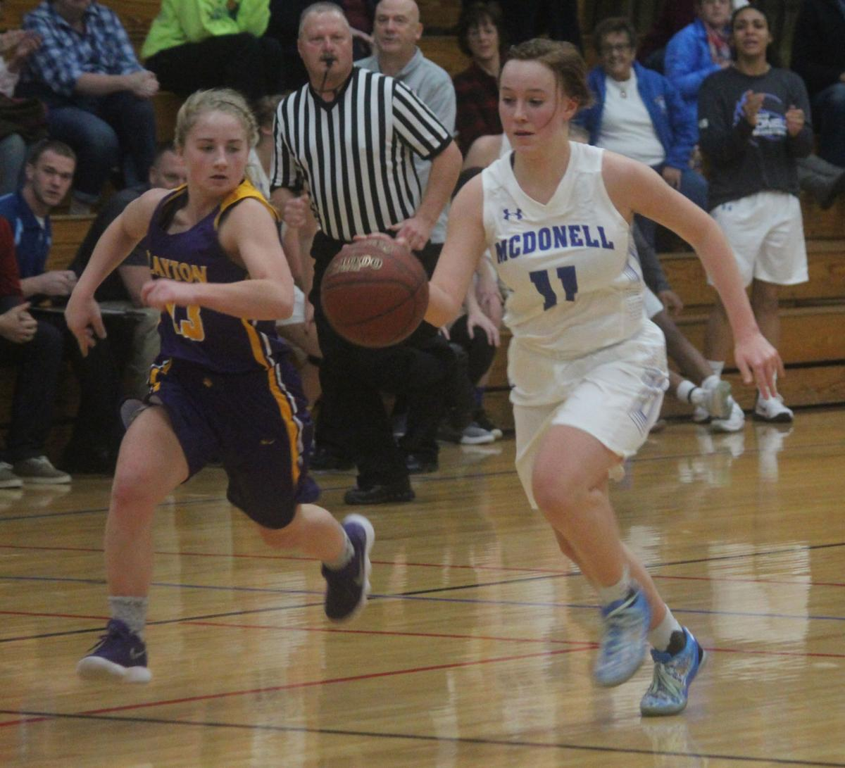 Clayton at McDonell girls basketball 12-2-17
